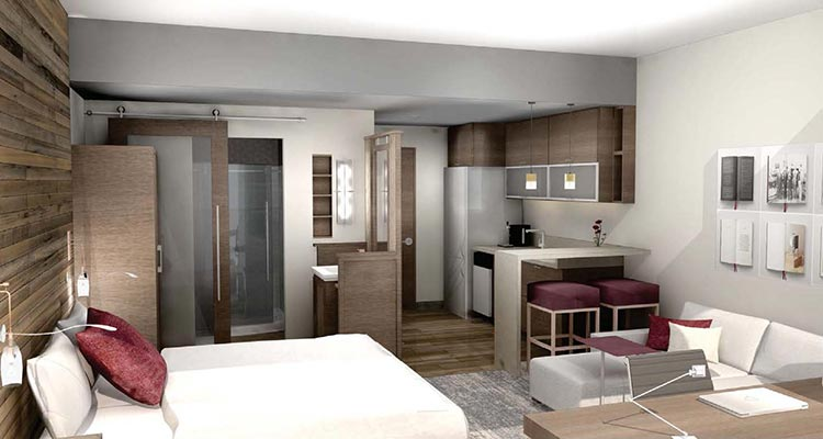 Luhrs Room, Bed and Living Area