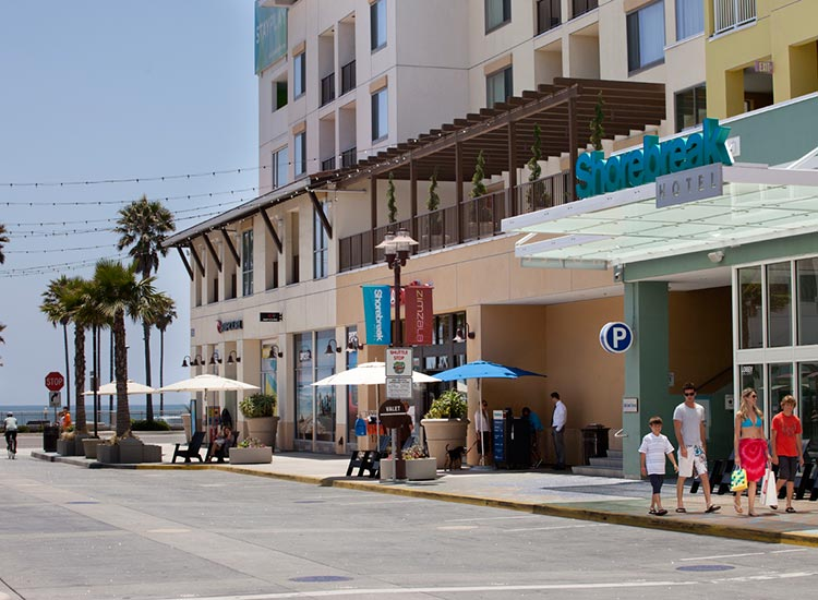 The Shorebreak Hotel View from the Stree