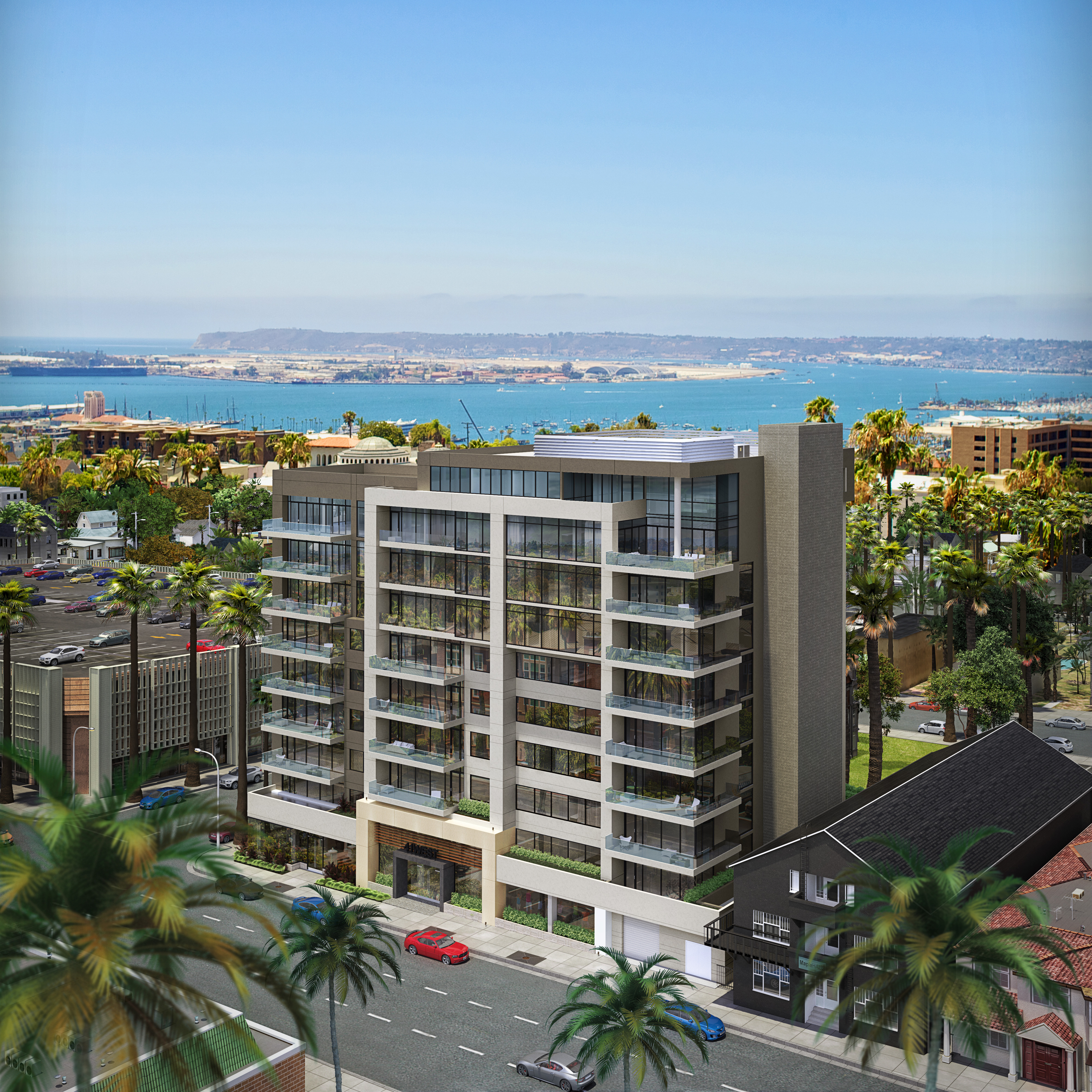Luxury condos in Bankers Hill San Diego with ocean views
