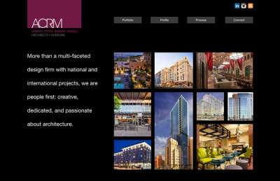 ACRM Architects + Interiors website