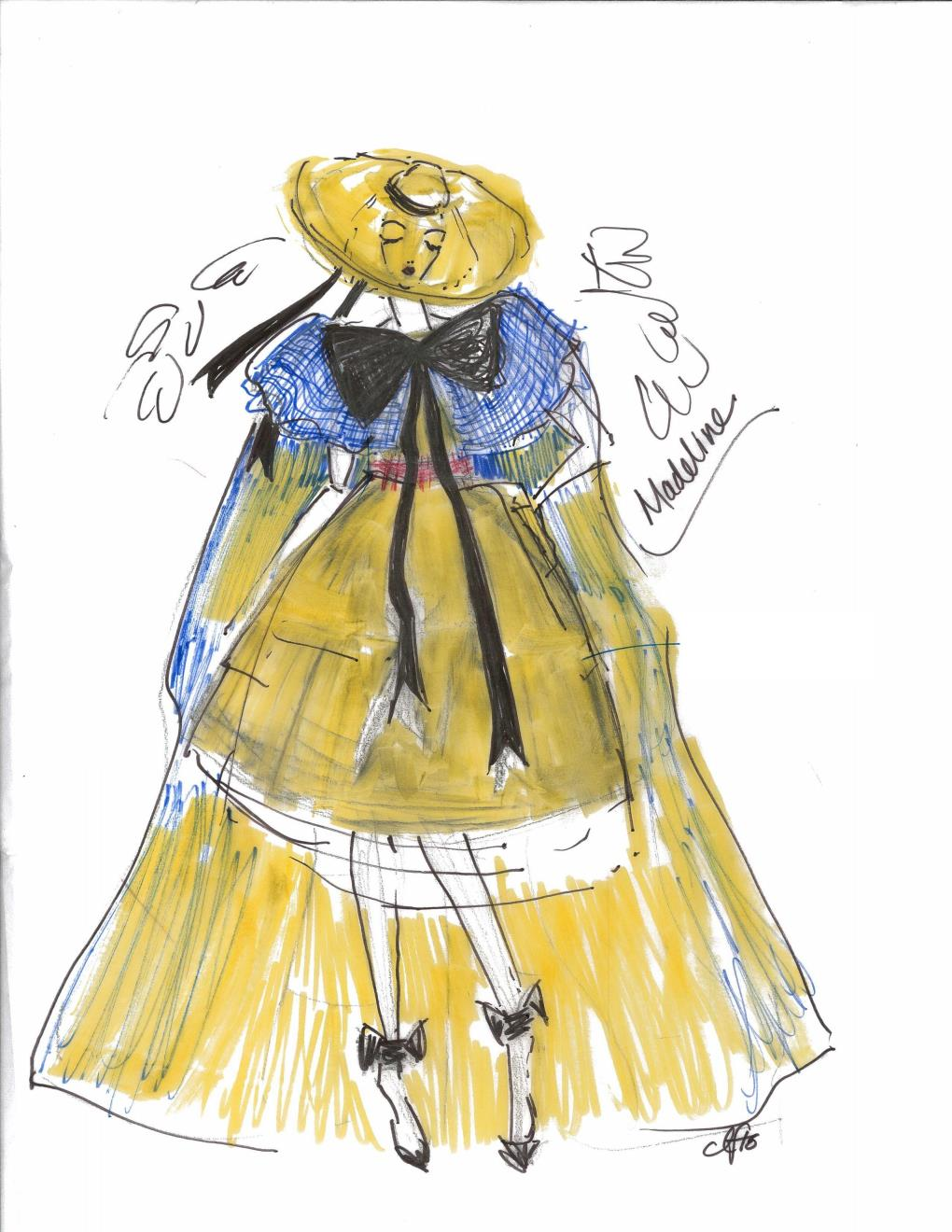 Acrm Architects Iida Fashion Show 2016 Madeline Outfit Sketch